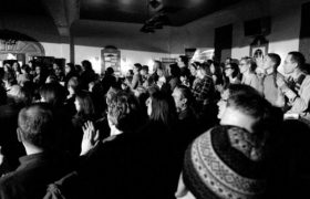 Crowd Shot from Ex Fabula Green Story Slam