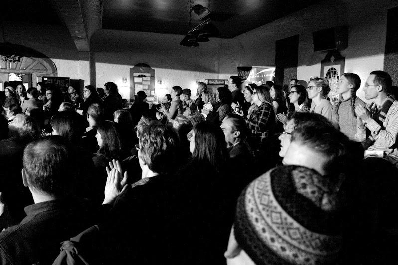 Crowd Shot from Ex Fabula Green Story Slam