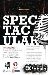 Ex Fabula Spectacular poster 2014