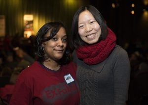 Kimberly M Ousley and Mia Liu at Exfabula