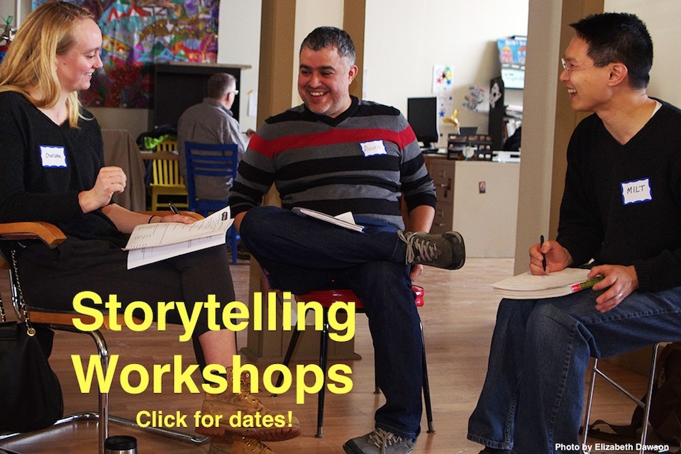 Attend an Ex Fabula storytelling workshop.