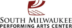 South Milwaukee Performing Arts Center logo: theatre seats with a high ceiling