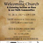 The Welcoming Church -- Zeidler Community Conversation