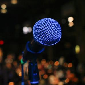 StorySlam microphone
