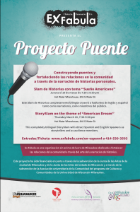 Puente Project flier about 03.10.16 StorySlam