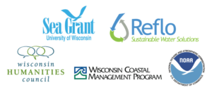 Sea Grant, Reflo, Wisconsin Humanities Council, Wisconsin Coastal Management Program, and NOAA logos