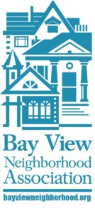 Bay View Neighborhood Association logo showing a house