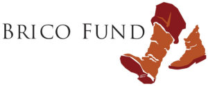 Brico Fund logo, with a pair of feet in boots, walking