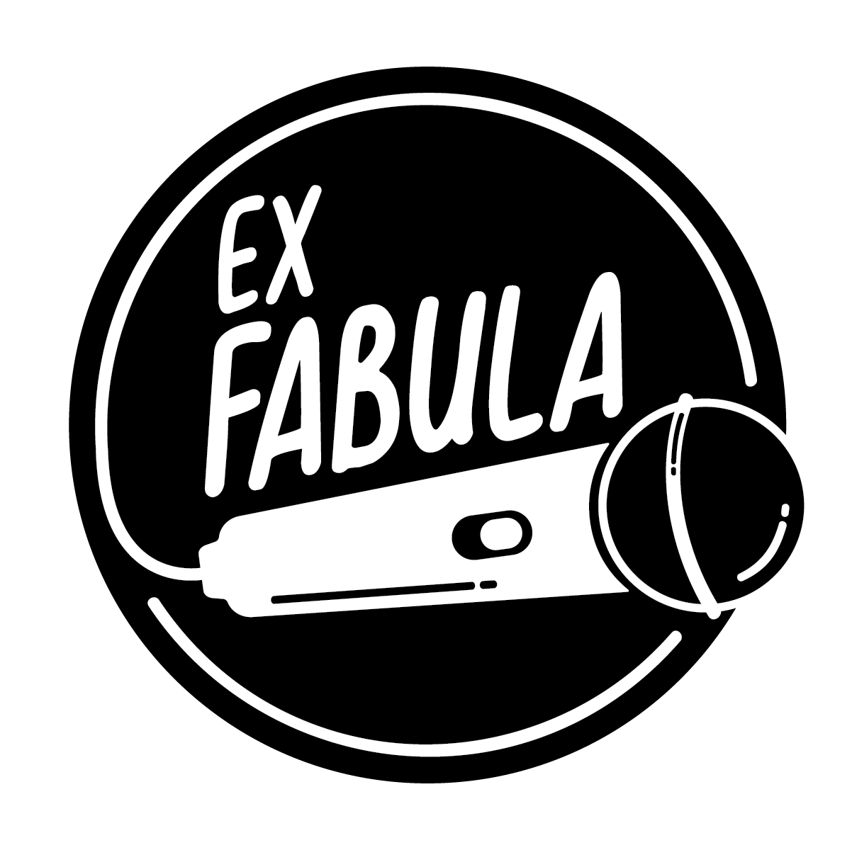 Ex Fabula: Story. Stage. You. Logo